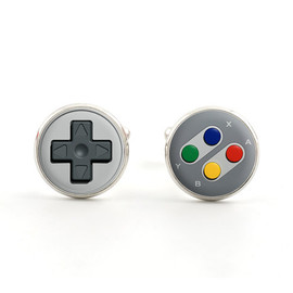 Silver Mens Cufflinks - Gamer Jewelry - SNES Controller Cufflinks - Nintendo Accessories for Men - Game Gifts for Him