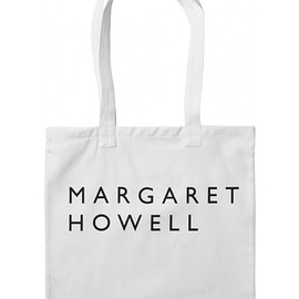 MARGARET HOWELL MEN - logo bag - cotton drill white