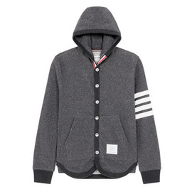 THOM BROWNE - Button Up Hoodie