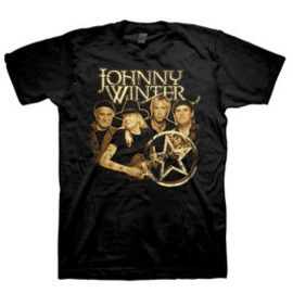JOHNNY WINTER / BAND MEMBERS SEPIA  / T-Shirts Tシャツ ジョニー・ウィンター