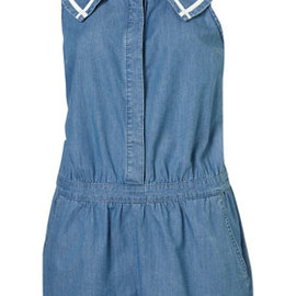 TOPSHOP/TOPMAN - Denim Sailor Playsuit
