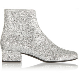 SAINT LAURENT - FW2014 Glitter-finished ankle boots