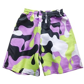 assk - NUCLEAR CAMO Shorts - Lavender