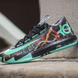 Nike - NIKE KD VI AS MULTI-COLOR/GREEN GLOW-BLACK