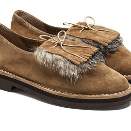 SOLOVIERE - SUEDE LEATHER LOAFER MAPLE