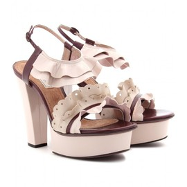 NINA RICCI - PATENT LEATHER PLATFORM SANDALS