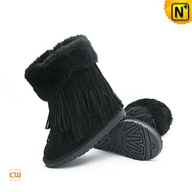 CWMALLS - Shearling Fringe Snow Boots CW314426