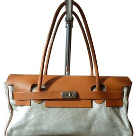 Silver Suede /Leather bag