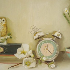 Janet hill - The Owl And The Clock- Limited Edition Print