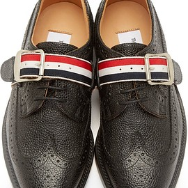 Thom Browne - Black Leather Wraparound Strap Brogues