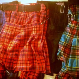 SEDITIONARIES(a store robot) - bondage trousers(red tartan)