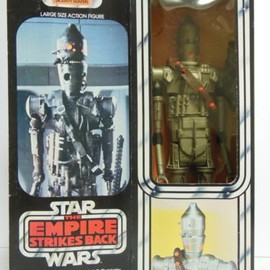 "Kenner - STAR WARS Vintage 1980 Kenner 12"" IG-88 Original Box & Accessories 15"" ESB"