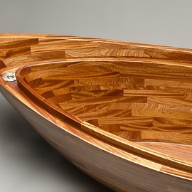 Seth Rolland custom furniture design - Custom sapele wood bathtub hand carved