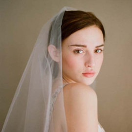 Simple and sheer single layer long veil - Style # 221 - Ready to Ship