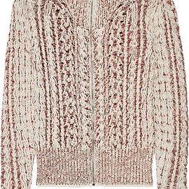 Isabel Marant - Easley mélange cable-knit wool-blend cardigan