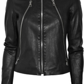 Maison Martin Margiela - ●Zip-detailed leather jacket 1