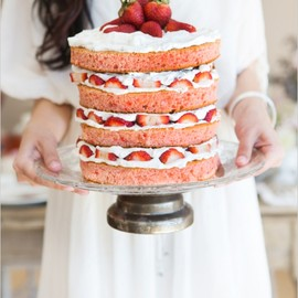 The Wedding Chicks - strawberry shortcake naked wedding cake
