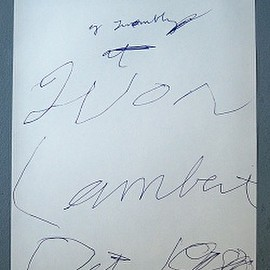 Cy Twombly - invitation print, 1980 ポスター