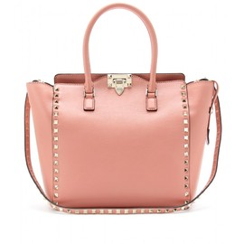 VALENTINO - ROCKSTUD LEATHER TOTE