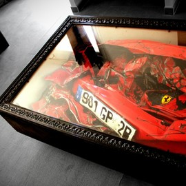 Charly Molinelli - Crashed Ferrari Table