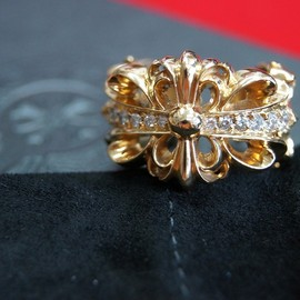 chrome hearts - Double Floral Cross 22k