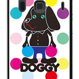 SECOND SKIN - Doggy マルチカラードット (ソフトTPUクリア) design by Moisture / for ARROWS NX F-06E/docomo