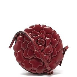 VALENTINO - Valentino Garavani Atelier round petal-effect leather cross-body bag
