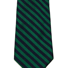 Brooks Brothers - Vintage Brooks Brothers BFS All Silk Striped Necktie Hand Made in USA Green/Navy