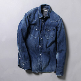nonnative - RANCHER SHIRT COTTON 8oz DENIM VW