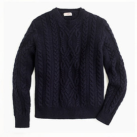 WALLACE & BARNES - WALLACE & BARNES SHETLAND WOOL CABLE SWEATER