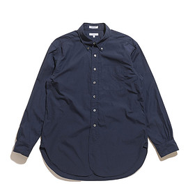 ENGINEERED GARMENTS - 19 Century BD Shirt-100's 2ply Broadcloth-Dk.Navy