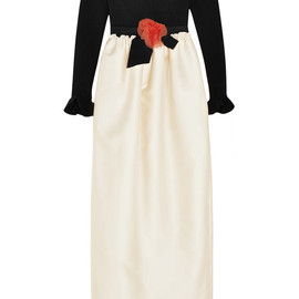 LANVIN - Jersey and duchesse-satin gown