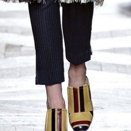 Dries Van Noten - Striped Eel Mule