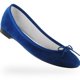repetto - Ballerine Cendrillon Bleu Paris Chèvre velours