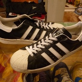 "adidas - 「<used>80's adidas SUPERSTAR black/white""made in FRANCE"" size:GB10(28.5cm) 68000yen」完売"