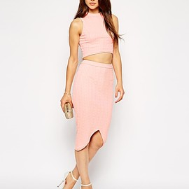 Bodycon Dress with Contrast Trim