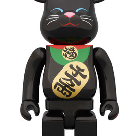 MEDICOM TOY - BE@RBRICK 400% 招き猫 黒