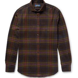 Polo Ralph Lauren - Slim-Fit Cutaway-Collar Checked Cotton and Wool-Blend Flannel Shirt