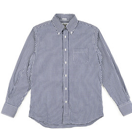 INDIVIDUALIZED SHIRTS - BD Shirts Standard Fit Gingham Check-Navy
