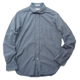 Engineered Garments - ROUND COLLAR SHIRT - Iridescent Chambray
