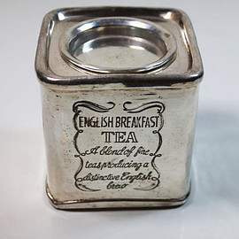 English Breakfast Vintage Silver Tea Tin