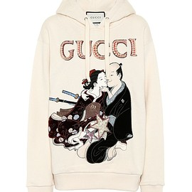 GUCCI - Resort 2018 Embellished cotton hoodie