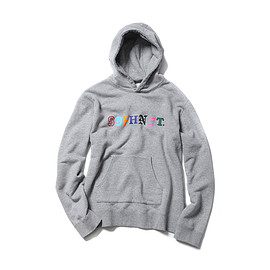 SOPHNET. - ALPHABET PULL OVER SWEAT PARKA