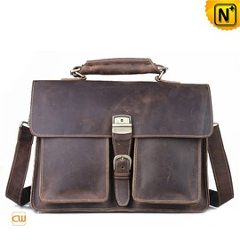 CWMALLS - Italian Leather Briefcase Bag for Men CW914133
