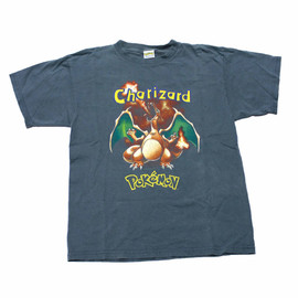 VINTAGE - Vintage 90s Pokemon Charizard Shirt Mens Size Small