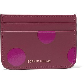 Sophie Hulme - Roseberry polka-dot leather cardholder