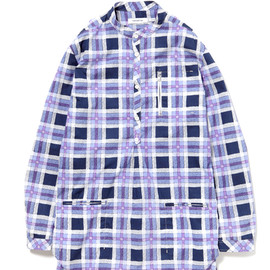 nonnative - POSTMAN SHIRT - COTTON TYPEWRITER TATTERSALL CHECK