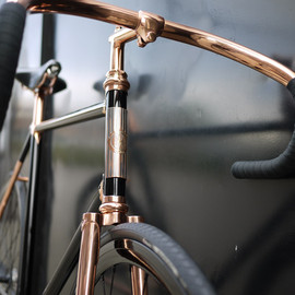 Madison Street Bicycle, copper-plated