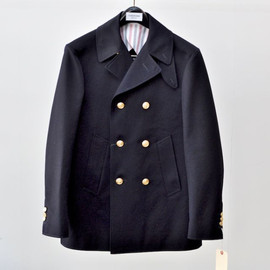 Thom Browne - COTTON TWILL PEACOAT