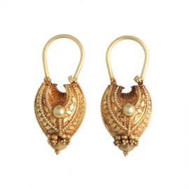 VINTAGE INDIAN TEAR DROP EARRINGS